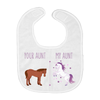 Your Aunt My Aunt Horse Unicorn Funny Baby Bib For Cool Crazy Aunts! - Love Family & Home