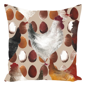 Chicken And Eggs Farm Design Throw Pillow Farm Decor - Love Family & Home
