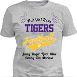 This Girl Loves Tigers Football & Personlized Names Apparel - Love Family & Home  - 2