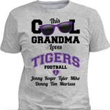 This Cool Grandma Loves Tigers Football & Personlized Names Apparel - Love Family & Home  - 2