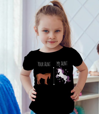 Image of Your Aunt My Aunt Horse Unicorn Funny T-Shirt For Crazy Aunts!