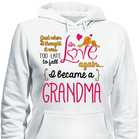 Image of Grandma Fall In Love Again T-Shirt - Love Family & Home