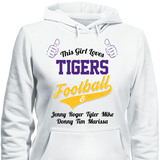 This Girl Loves Tigers Football & Personlized Names Apparel - Love Family & Home  - 3