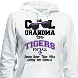 This Cool Grandma Loves Tigers Football & Personlized Names Apparel - Love Family & Home  - 3