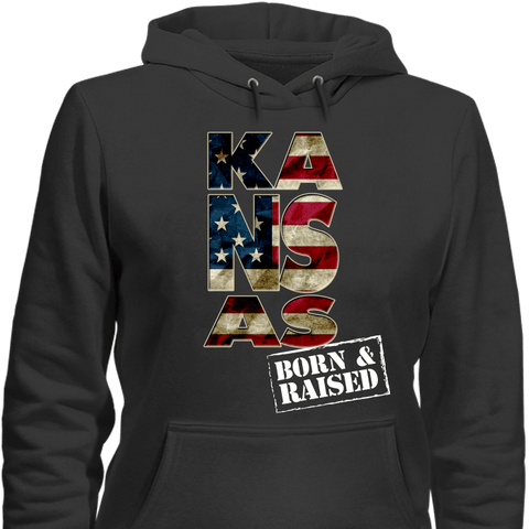 Image of Kansas Born & Raised Limited Edition Print T-Shirt & Apparel - Love Family & Home