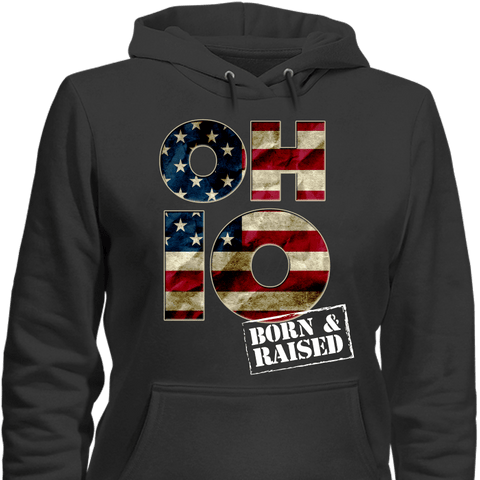 Ohio O-H-I-O Born & Raised T-Shirt & Apparel - Love Family & Home