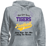 This Girl Loves Tigers Football & Personlized Names Apparel - Love Family & Home  - 4