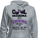 This Cool Grandma Loves Tigers Football & Personlized Names Apparel - Love Family & Home  - 4