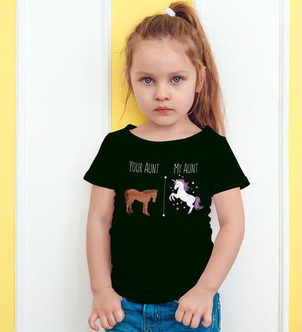 Your Aunt My Aunt Horse Unicorn Funny T-Shirt For Crazy Aunts!