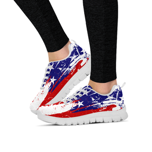 Ladies Running Shoes USA Flag EXP - Love Family & Home