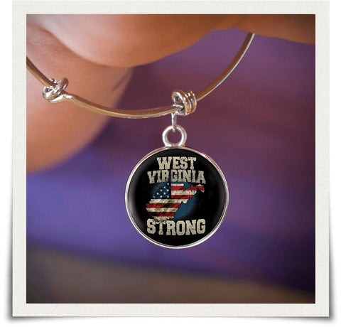Image of West Virginia Strong Bangle - Love Family & Home
