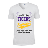 This Girl Loves Tigers Football & Personlized Names Apparel - Love Family & Home  - 5