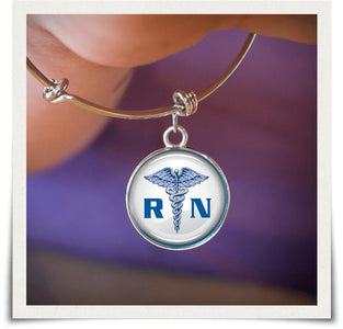 RN Registered Nurse Bangle - Love Family & Home