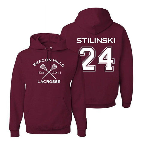 Stiles Stilinski 24 Teen Wolf Beacon Hills Inspired Lacrosse Adult Fashion Hoodie Apparel - Love Family & Home  - 1