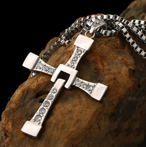 Image of The Fast And The Furious Inspired Cross Pendant Necklace - Love Family & Home