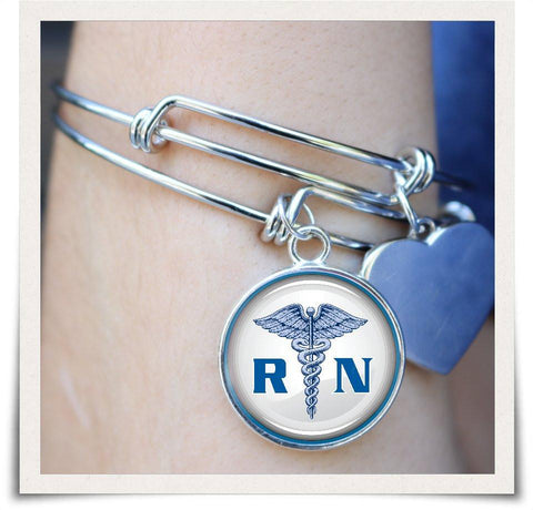 Image of RN Registered Nurse Bangle - Love Family & Home