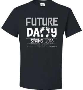 Future Daddy Shirt Personalized With Date Become A Father Apparel - Love Family & Home