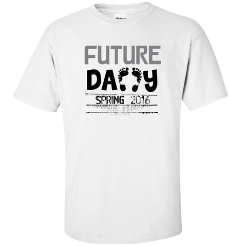 Image of Future Daddy Shirt Personalized With Date Become A Father Apparel - Love Family & Home