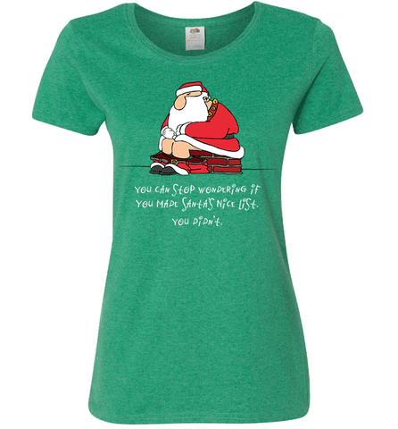 Image of Bad Santa Nice List T-Shirt & Apparel - Love Family & Home