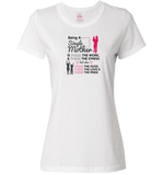 Being A Single Mother T-shirt & Apparel - Love Family & Home  - 5
