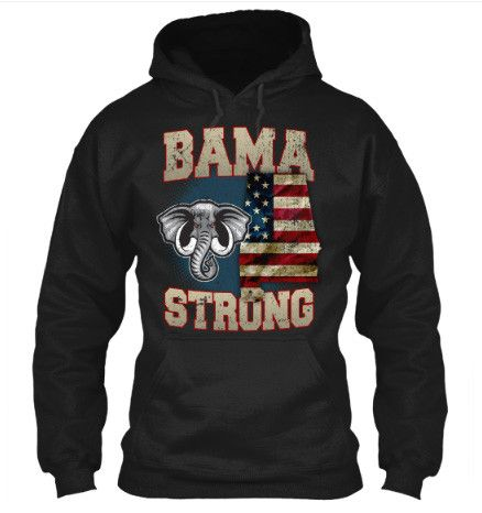 Image of Bama Strong Special Limited Edition Alabama Print T-Shirt & Apparel - Love Family & Home