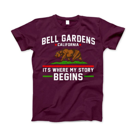 Bell Gardens California It's Where My Story Begins Grizzly Bear Apparel - Love Family & Home  - 1
