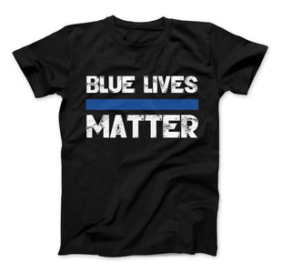 Blue Lives Matter Thin Blue Line Series T-Shirt & Apparel - Love Family & Home