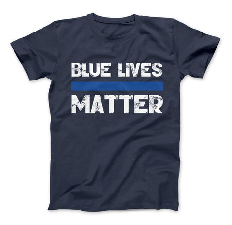 Image of Blue Lives Matter Thin Blue Line Series T-Shirt & Apparel - Love Family & Home