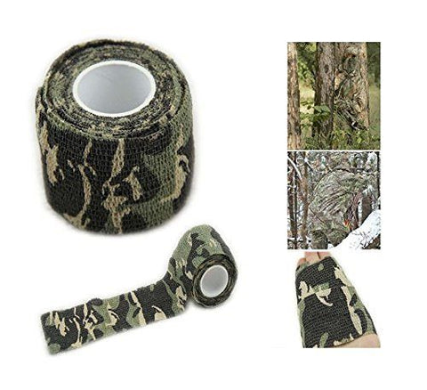 Camo Tape Hunting Stealth Gun And Bow Camouflage Cloth Tape Flexible 14.5 Feet Per Roll - 2 Rolls - Love Family & Home