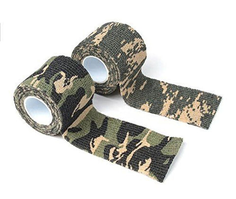 Camo Tape Hunting Stealth Gun And Bow Camouflage Cloth Tape Flexible 14.5 Feet Per Roll - 2 Rolls - Love Family & Home  - 1