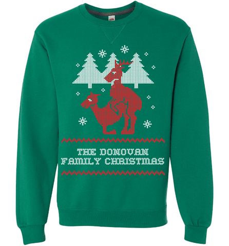 "Image of Personalized Reindeer ""Ugly Christmas Sweater"" Design T-Shirt & Apparel - Love Family & Home"