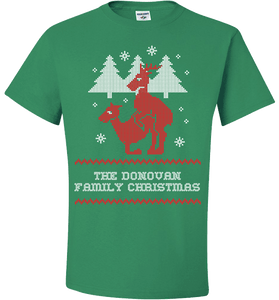 "Personalized Reindeer ""Ugly Christmas Sweater"" Design T-Shirt & Apparel - Love Family & Home"