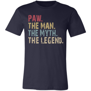 PAW The Man The Myth The Legend T-Shirt - Love Family & Home
