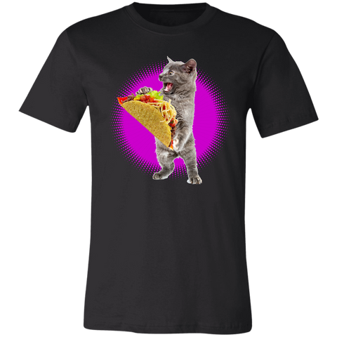 Image of Taco Cat Shirt With Pink Burst Funny Cat & Taco Lovers T-Shirt - Love Family & Home