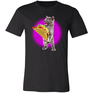 Taco Cat Shirt With Pink Burst Funny Cat & Taco Lovers T-Shirt - Love Family & Home