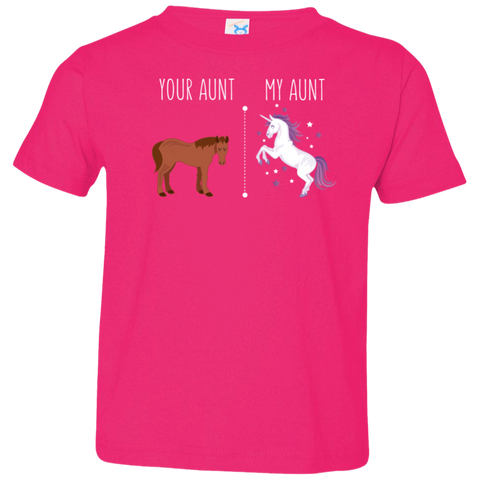 Your Aunt My Aunt Horse Unicorn Toddler T-Shirt - Love Family & Home