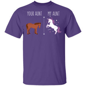 Your Aunt My Aunt Horse Unicorn Funny T-Shirt - Love Family & Home