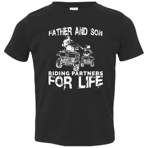 Father And Son ATV Riding Partners For Life Toddler T-Shirt - Love Family & Home