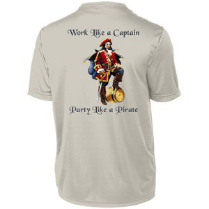 Party Like A Pirate Dri-Fit Moisture-Wicking T-Shirt - Back Print - Love Family & Home