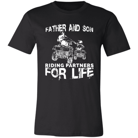 Image of Father And Son ATV Riding Partners For Life Adult T-Shirt - Love Family & Home