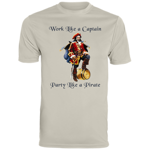 Work like a captain party like a pirate t-shirt - Love Family & Home