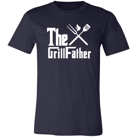 Image of The GrillFather Dads BBQ T-Shirt Grill Father - Love Family & Home
