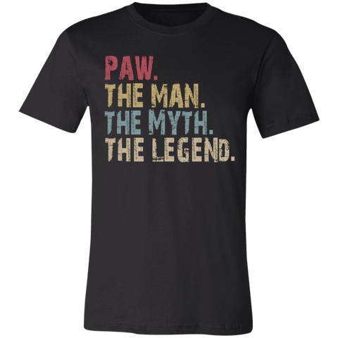 Image of PAW The Man The Myth The Legend T-Shirt - Love Family & Home