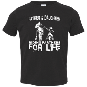 Father And Daughter Riding Partners For Life Toddler Jersey T-Shirt - Love Family & Home