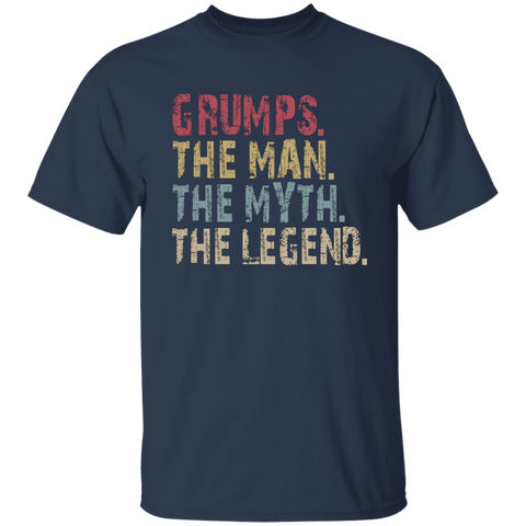 Image of GRUMPS The Man The Myth The Legend T-Shirt - Love Family & Home