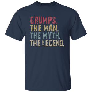 GRUMPS The Man The Myth The Legend T-Shirt - Love Family & Home