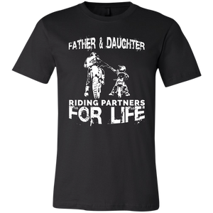 Father And Daughter Riding Partners For Life T-Shirt - Love Family & Home
