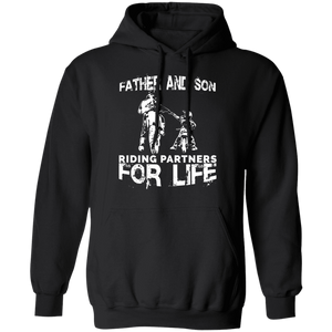 Father And Son Riding Partners For Life Adult Hoodie - Love Family & Home