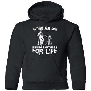 Father And Son Riding Partners For Life Youth Hoodie - Love Family & Home