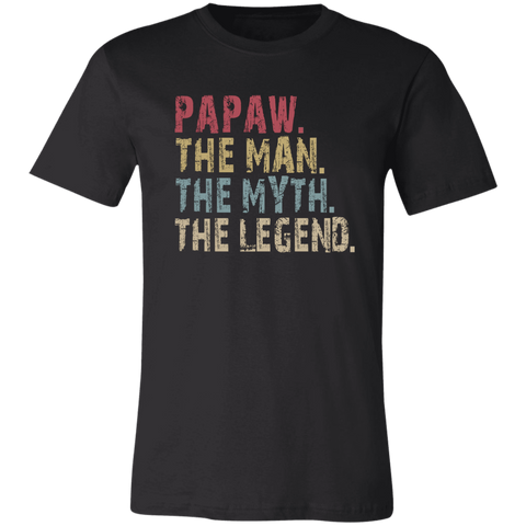 Image of PAPAW The Man The Myth The Legend T-Shirt - Love Family & Home